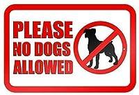 ホームバーダイナーパブのポスターの装飾でサイン金属ブリキサインを許可されていない犬をしないでください