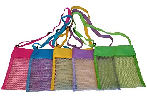 Newsfana Beach Treasures Starfish Shell Bag Toys Kids Sandboxes Easy Carry Fun F-081 (5XColor)