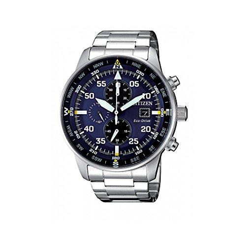 Reloj de Cuarzo Citizen of Crono Aviator, Eco Drive B612, 44 mm, CA0690-88L