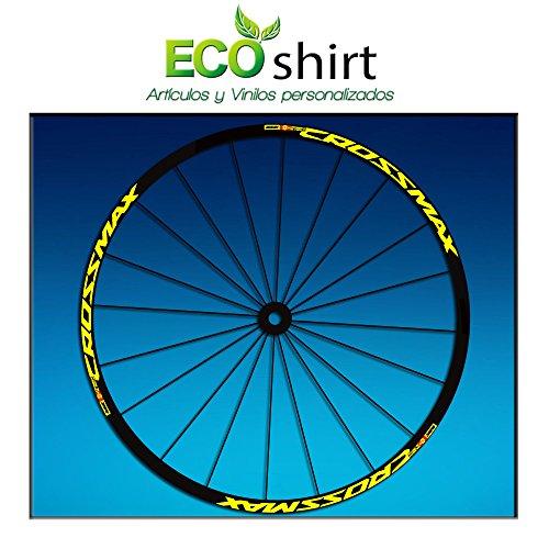 Ecoshirt EQ-7F31-IHCX Stickers Jante Rim Mavic Crossmax SL Pro Am50 MTB Downhill Jaune 29\