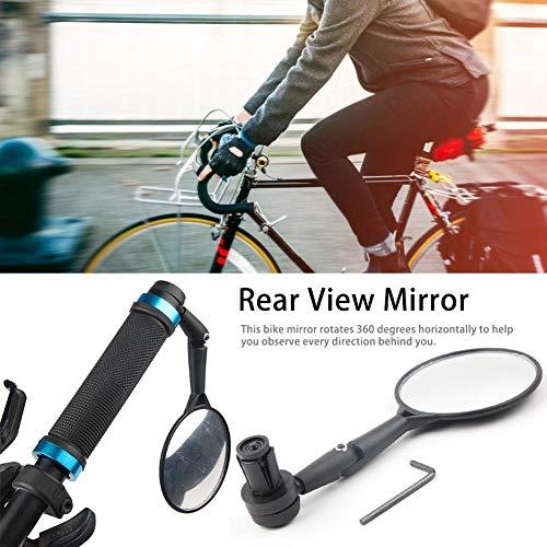Rückspiegel für Fahrrad/E-Bike/Roller/Mofa/Rollstuhl/Rollator/Kinderwagen/Golf Cart mit Schwanenhals 360 Grad drehen