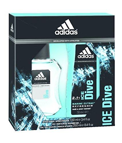 adidas regalo paquete Ice Dive contenido: EDT 50ml, desodorante Body Spray 150Ml, gel de 250ml, 1er Pack (1x 450ml)