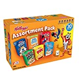 """""""(Discontinued by Manufacturer)Kellogg's Breakfast Cereal, Assortment Pack, Frosted Flakes, Frosted Mini-Wheats, Froot Loops, Apple Jacks, Corn Pops, and Rice Krispies, 32.7 oz Tray (30 Count)"""""""