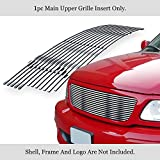 APS Compatible with 1999-2003 F-150 Harley Davidson Lightning 99-02 Expedition Main Upper Stainless Steel Polished Chrome 8x6 Horizontal Billet Grille Insert F85072S