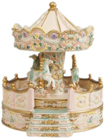 Spieluhrenwelt 14148 - Figura de tiovivo con voladizo, Color Beige