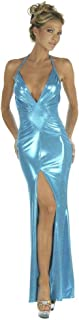 Inc Sexy Evening Shimmer Metallic Turquoise Gown
