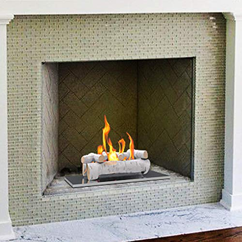 """Regal Flame 6 PC 22"""" Ceramic Wood Large Gas Fireplace Logs for All Types of Indoor, Gas Inserts, Ventless & Vent Free, Propane, Gel, Ethanol, Electric, or Outdoor Fireplaces & Fire Pits (Birch)"""