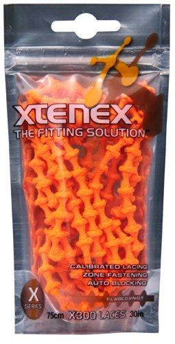 Xtenex - Cordones para zapatos unisex, Naranja, 75 cm
