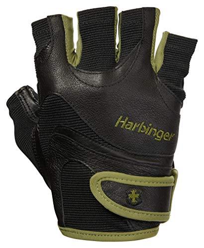 Harbinger FlexFit Fitness Handschuh Herren, Gewichtheber Handschuhe, Waschmaschinengeeignet, Schwarz/Grün, L