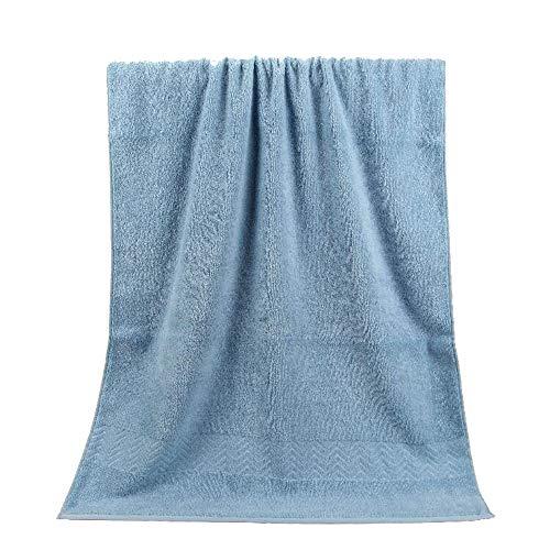 Toalla De Baño, Peinado Patrón De Agua Algodón Puro Algodón Puro Toalla De Baño Sauna Wrap Toalla, Absorbente Y Secado Rápido Toalla De Playa, 70 × 140 Cm,Azul