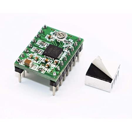 AS RETAILS Pololu A4988 driver Stepper Motor Driver Module with Heat Sink for 3D Printer Arduino (Green)