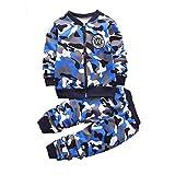 Coralup Ensemble de vêtements Chauds pour Enfant Motif Camouflage 3 Couleurs 12 Mois à 5 Ans - Bleu - 2-3 Ans