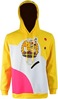 Unisex Yellow Cosplay Costume Cute Hat Carnival Overall Pullover Hooded Hoodie Sweatshirt T-Shirt