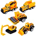 Construction Trucks for 3 Year Old Boys Mini Engineering Models Play Vehicles Cars Toys Birthday Party Supplies Cake Topper for Toddlers,Pack of 5 by DE SONG TOYS FACTORY