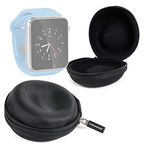 DURAGADGET Funda Negra para Reloj AGPtek A1   LaTEC   Pebble Classic   Time Round   Posma W1   Pushman 1   Zolimx U80 Guardar Su Dispositivo!
