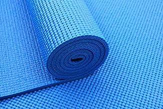 حصيرة يوجا رياضية من تاشينغ مصنوعة من بلاستيك بي في سي 4 ملم باللون الأزرق