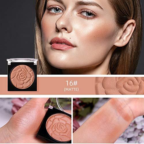Metermall 1PC Menow Face Makeup Palette Petal Matte Blusher Powder Contour Cheek Rouge 16