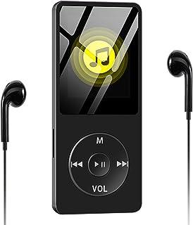 Wodgreat Reproductor MP3, Reproductor de Música MP4 Reproductor de HiFi Lossless Sound, Pantalla de Color de 1.8 Pulgadas, Altavoz Incorporado/Radio FM/Grabación de Voz/E-Book, Soporta hasta 128GB