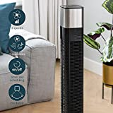 Princess Smart Tower Fan, 50 W, 3 Speed Settings, Smart Control and Free App, Works with Alexa