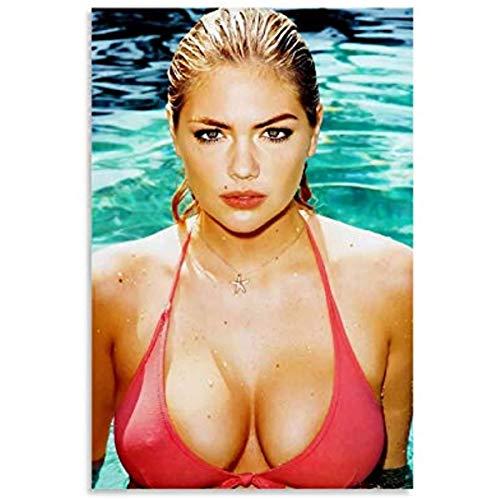 Deldet Kate Upton Sexy Niña Porno Cartel De Lienzo Arte Cartel Y Pared Imagen...