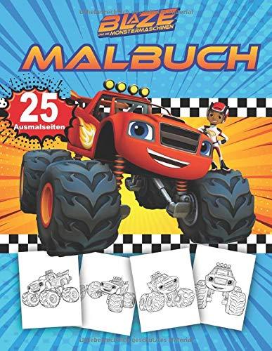 Blaze und die Monster-Maschinen Malbuch: Malbuch Mit Wunderbaren Bildern Für Kinder - Blaze