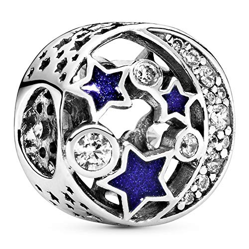 Pandora Moments Funkelnder Nachthimmel Charm Sterling Silber, Cubic Zirkonia, Emaille 791992CZ