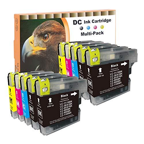 D&C 10set Druckerpatronen Kompatibel mit Brother LC-980/1100 DCP-185C,DCP-385C,DCP-395CN,DCP-585CW,DCP-6690CW,DCP-J615W, DCP-J715W,MFC-490CW,MFC-5490CN,MFC-5895CW,MFC-6890CDW,MFC-795CW,MFC-990CW