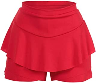 Skirts Skirts Layered Ruffled Frill Skorts High Waisted Part Mini Skirt Shorts S-XXL Party Casual