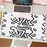 Gaming Keyboard Mouse Pad da Gioco Scimmia di Keith Haring adatta per computer desktop notebook