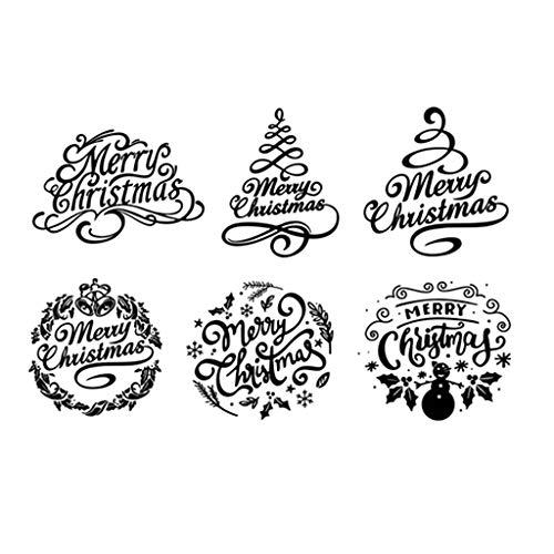 ECMQS Weihnachten DIY Transparente Briefmarke, Silikon Stempel Set, Clear Stamps, Schneiden Schablonen, Bastelei Scrapbooking-Werkzeug