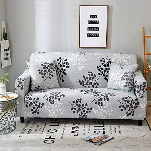 ASCV Protector de Muebles-Pieles de sofá Funda elástica para Sala de Estar Funda de sofá de Esquina Funda elástica para sofá A1 4 plazas