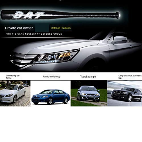 T/A 2 Packs 25 Inch Baseball Bat Self-Defense Softball Bat Home Defense Lightweight Aluminum Alloy (Black)