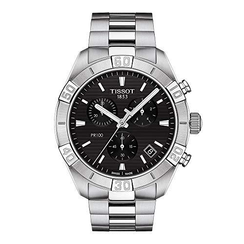 Tissot orologio PR 100 Sport Gent Chronograph 44mm Nero quarzo Acciaio T101.617.11.051.00 - Default Title