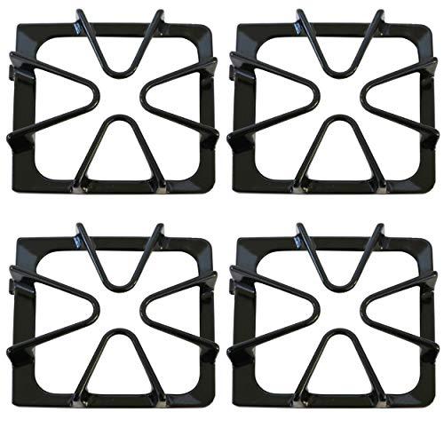Kitchen Basics 101: 4 Pack Gloss Black Oven Stove Range Burner Grates Replacement for Whirlpool 8522858 / WP8522858 8053456 / WP8053456 WPW10447925