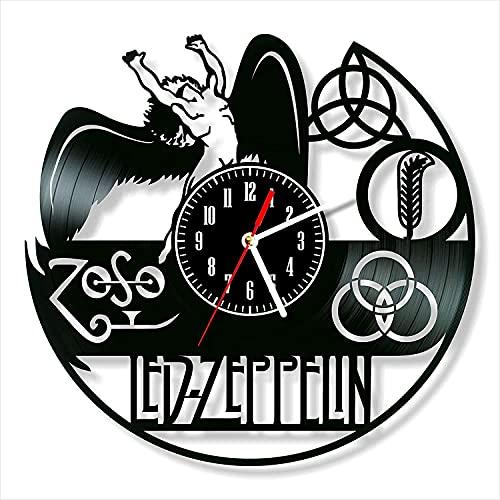Led Zeppelin Vinile Orologio Da Parete In Vinile Record Retro Orologio Da Parete Compleanno Capodanno Natale Compleanno Regalo di compleanno Personalità creativo home design decorazione della parete
