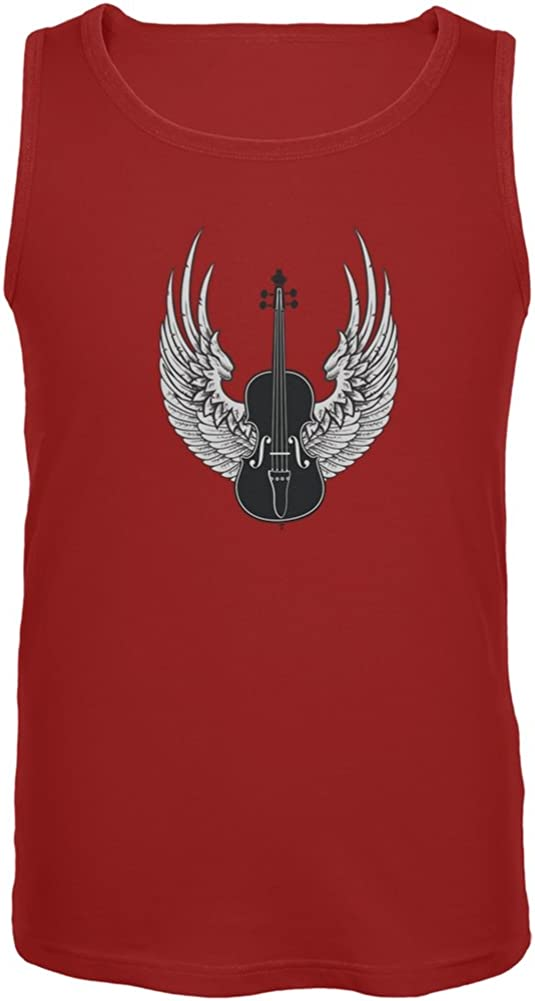 Old Glory Winged Violin Red Adult Tank Top
