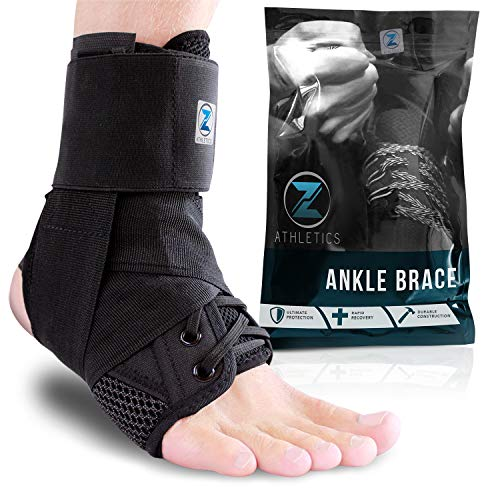 Zenith Ankle Brace, Lace Up Adjustable Support – for Running, Basketball, Injury Recovery, Sprain!...
