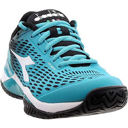 Diadora Womens Speed Blushield 2 Ag Tennis Sneakers Shoes Casual - Blue - Size 6 B