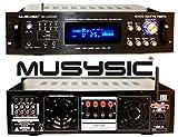 MUSYSIC Professional 4000 Watts Hybrid Power Amplifier/Pre-Amplifier/Receiver Bluetooth AM/FM Tuner USB/SD Slot MP3 / iPod Input MU-H4000BT