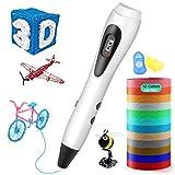 3D Stift, ESEUS 3D Stifte mit LCD Bildschirm für Kinder, 3D Druck Stift Set mit PLA Farben für DIY, Handgefertigte Werke, Einzigartige Geburtstags Und Weihnachtsgeschenke für Kinder Und Erwachsen