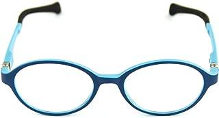 Cyxus Blue Light Blocking [Flexible Lightweight] Glasses for Kids Boys Girls Anti Eyestrain UV Computer Eyewear Clear Lens Oval Pink Yellow Frame (blue,6286T05)