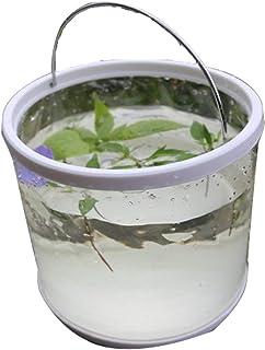 VISZC Seaux Pliables de Stockage de Seau Contenant Pliant, Seau d'eau en Plastique Portable pour Le Jardinage de Plage de ...