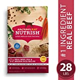 Rachael Ray Nutrish Premium Natural Dry Dog Food, Real Beef, Pea, & Brown Rice Recipe, 28 Pounds