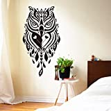 ganlanshu Arte diseñado decoración del hogar Vinilo Fresco Creativo búho Etiqueta de la...