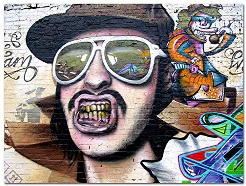 XINNeck Cuadro En Lienzo,Fun Boy Poster Print Wall Art Prints Poster Pinturas para la Pared de la Sala de Estar Pintura sobre Lienzo Decoraciones navideñas para el hogar -50x70cm