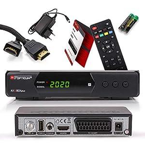 Opticum SBOX Plus Receptor Satélite HD y Reproductor Multimedia - Descodificador Satélite HD 1080p para TV DVB-S/S2 - Astra y Hotbird Preinstalados + Cable HDMI Anadol