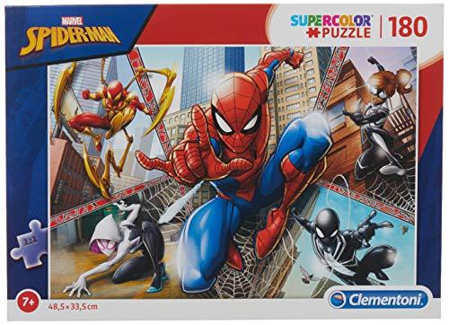 Clementoni Spider-Man Supercolor Puzzle Man-180 pezzi, Multicolore, 29302