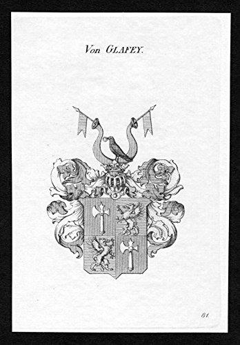 Von Glafey - Glafey Wappen Adel coat of arms heraldry Heraldik Kupferstich