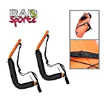 Kayak Storage Hooks – Wall Mount Garage Hangers with 125 lb Capacity for Kayaks or Paddleboards by Rad Sportz 14 KAYAK WALL MOUNT – The hangers provide an easy way to mount your kayak or paddleboard neatly on the wall of your garage or shed SECURE STORAGE – Constructed from sturdy powder coated steel, and equipped with nylon holding straps and clips, the hooks can be mounted right into your wall studs to safely store equipment up to 125-pounds FOAM PADDED HOOKS – The hooks are designed with a foam padding to protect your kayak or sporting equipment from scratches