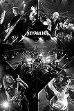 Póster de Metallica 'Live/En vivo' (61cm x 91,5cm) + 1 paquete de tesa Powerstrips® (20 tiras)
